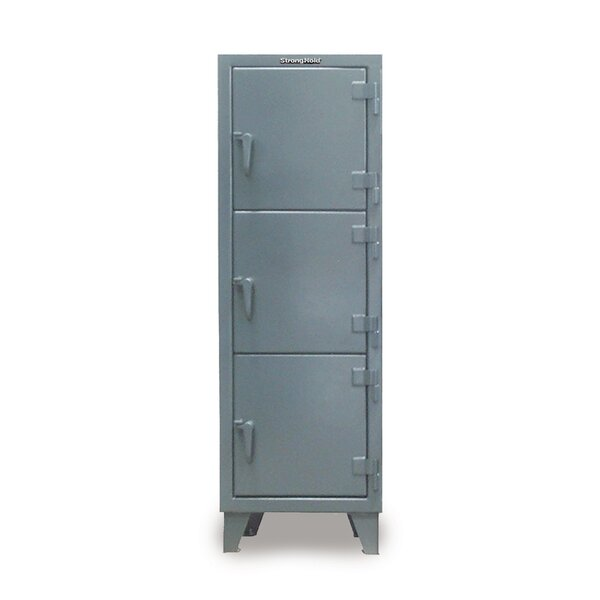 3 Tier 1 Wide Employee Locker by Strong Hold Products