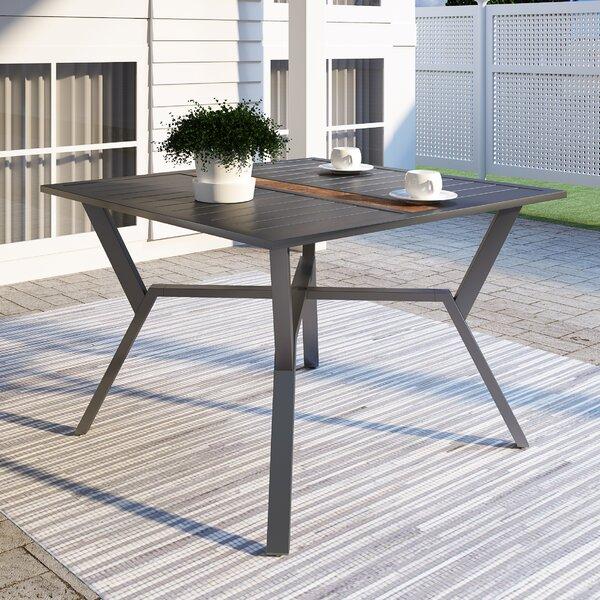 Selva Metal Dining Table by Latitude Run