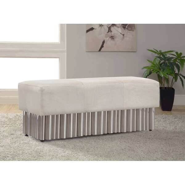 Mclin Genuine Leather Bench by House of Hampton