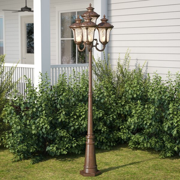 Gurnee Outdoor 4-Light 93 Metal Post Light by Three Posts
