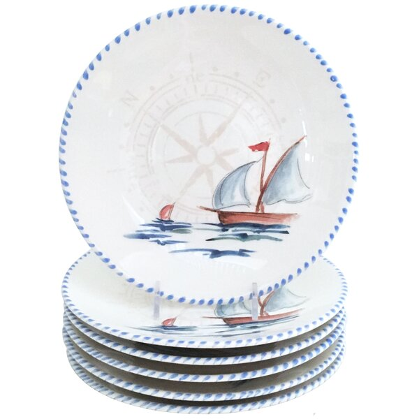 Sailboat 10 Dinner Plate (Set of 6) by Abbiamo Tutto