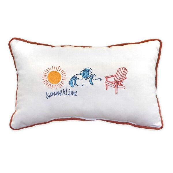 Summertime Sunbrella Indoor / Outdoor Lumbar Pillow
