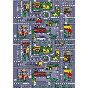 Reviews City Map Gray Area Rug BySintechno