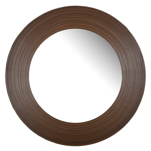 Brown Glass Accent Wall Mirror by Bay Isle Home