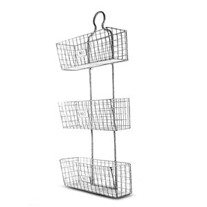 Wall Hanging Wire Baskets wall hanging storage baskets | wayfair