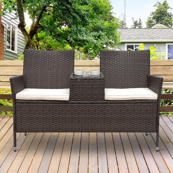 Vandervoort Rattan Seating Group with Cushions by Wrought Studio