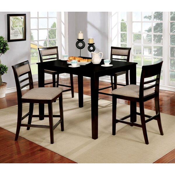 Hansford Wooden 5 Piece Counter Height Dining Table Set by Red Barrel Studio