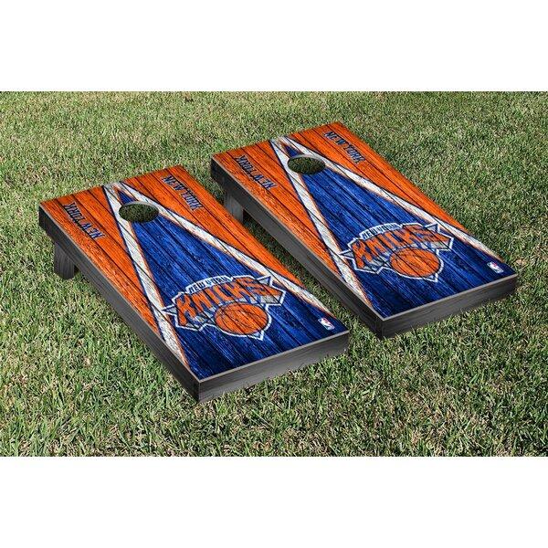 NBA Triangle Weathered Version Cornhole Game Set b