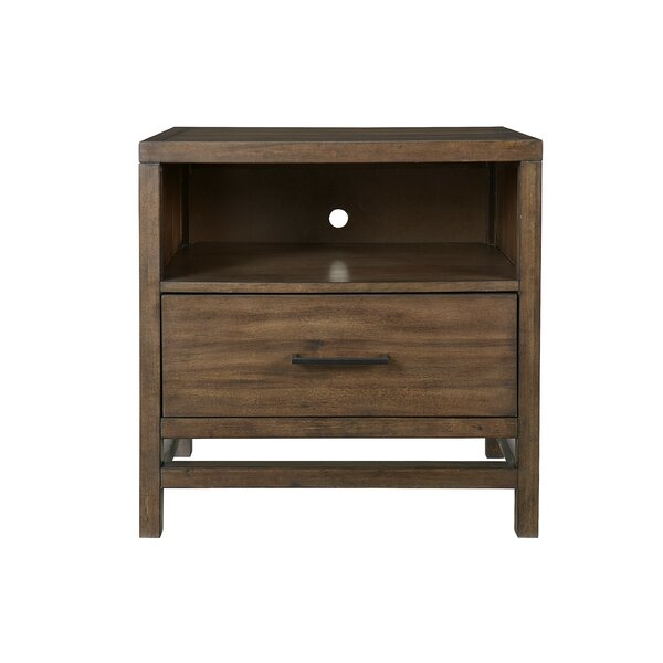 Stamper 1 Drawer Nightstand by Union Rustic
