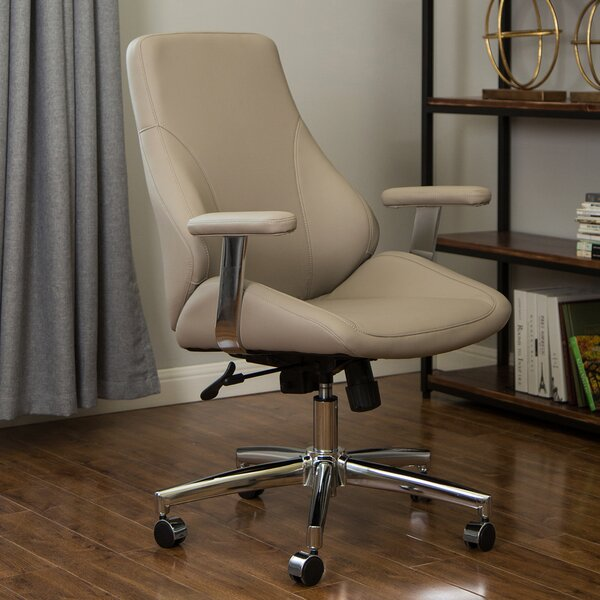 Baxley Mid Century Modern Gaslift Swivel Ergonomic Executive Chair by Corrigan Studio