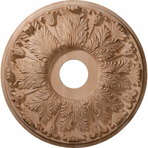 Florentine 20H x 20W x 1.75D Carved Maple Ceiling Medallion by Ekena Millwork