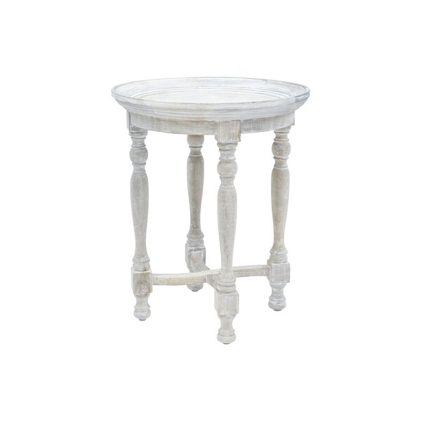 Nyasia Solid Wood End Table By Ophelia & Co.