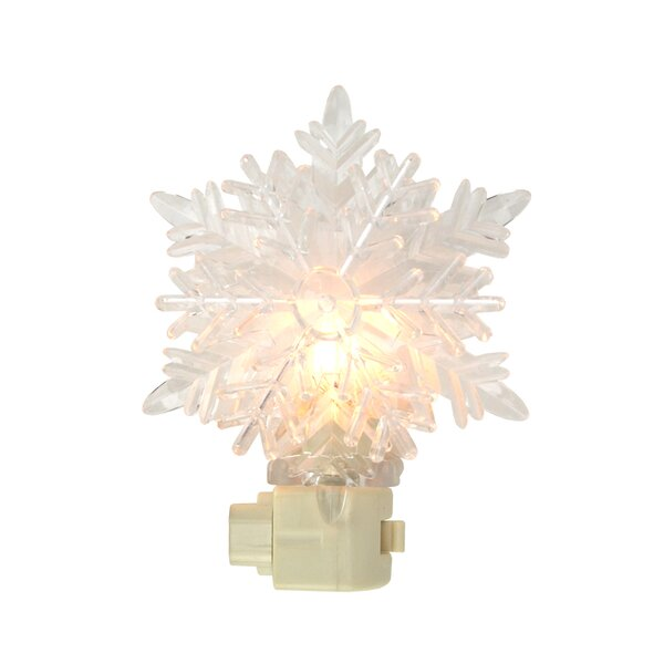 Icy Crystal Decorative Snowflake Night Light by Penn Distributing