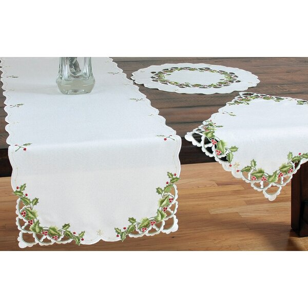 Winter Berry Christmas Table Runner by Xia Home Fashions