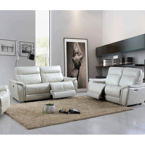 Desertderrin Electric 2 Piece Leather Reclining Living Room Set By Latitude Run