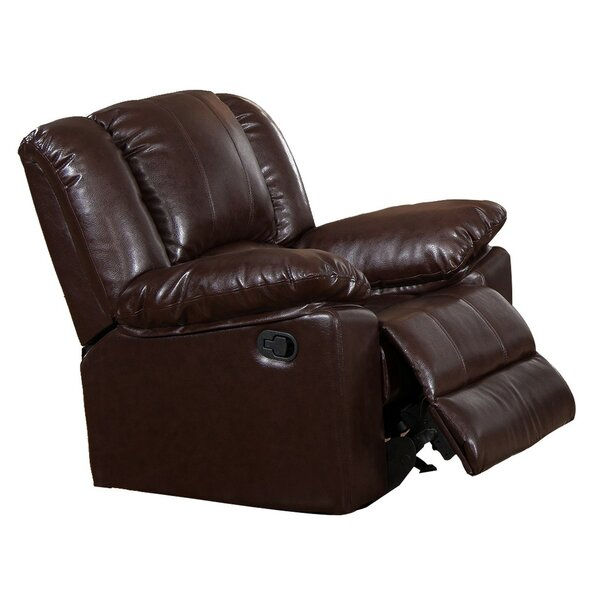 Bridgette Leatherette Manual Rocker Recliner by Red Barrel Studio