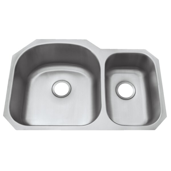 Le Sabre Stainless Steel 32 L x 21 W Double Basin Undermount Kitchen Sink