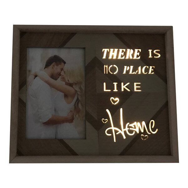 SanderSon Lighted There is No Place Like Home Picture Frame by Union Rustic