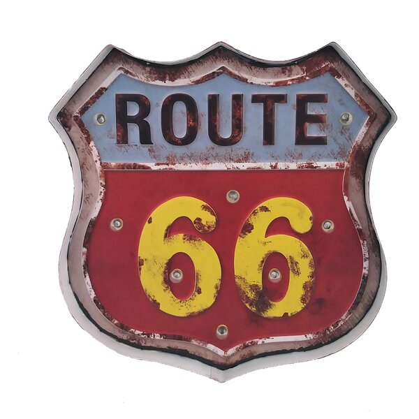 Vintage Route 66 Marquee Sign by Williston Forge