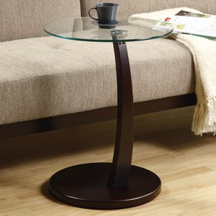 Find Bentwood Tempered Glass End Table ByMonarch Specialties Inc.
