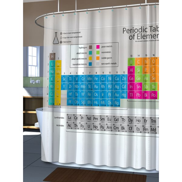 EVA 5G Periodic Table Vinyl Shower Curtain Liner by East Urban Home