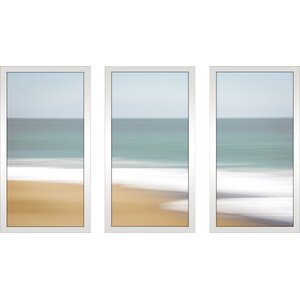 'Santa Cruz' Framed Painting Print Multi-Piece Image on Glass by Highland Dunes