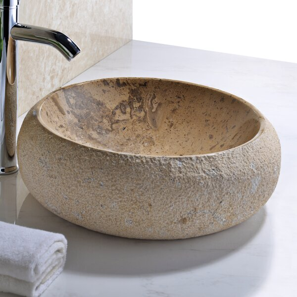 Leopards Stone Circular Vessel Bathroom Sink by ANZZI