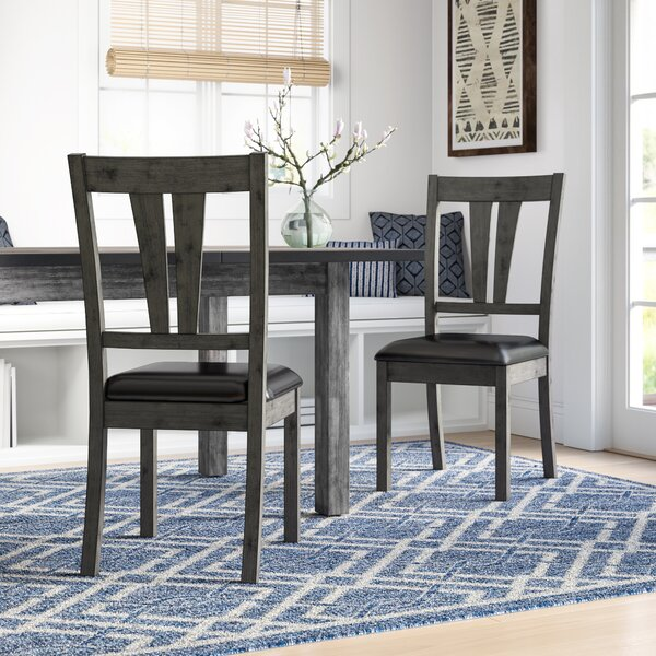Katarina Side Chair with Upholstered Seat (Set of 2) by Mistana