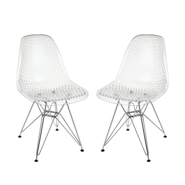 Pieter Invisible Side Chair (Set of 2) by Orren Ellis