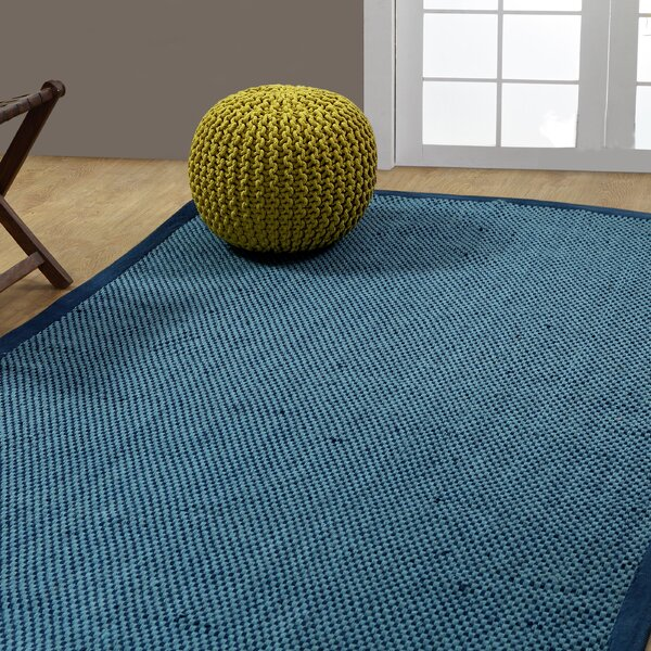 Cross Hand-Woven Blue Indoor/Outdoor Area Rug by Longshore Tides