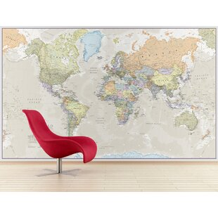 Maps posters and paper wall art wayfair classic world map graphic art print gumiabroncs Choice Image