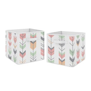 Best Price Arrow Fabric Bins (Set of 2) By Sweet Jojo Designs