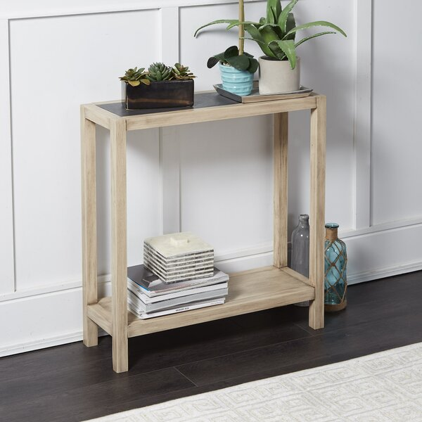 Hummel Wood Rectangle Slim Console Table By Union Rustic
