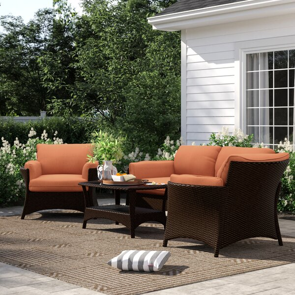 Asherman 4 Piece Rattan Sofa Seating Group with Cushions by Sol 72 Outdoor