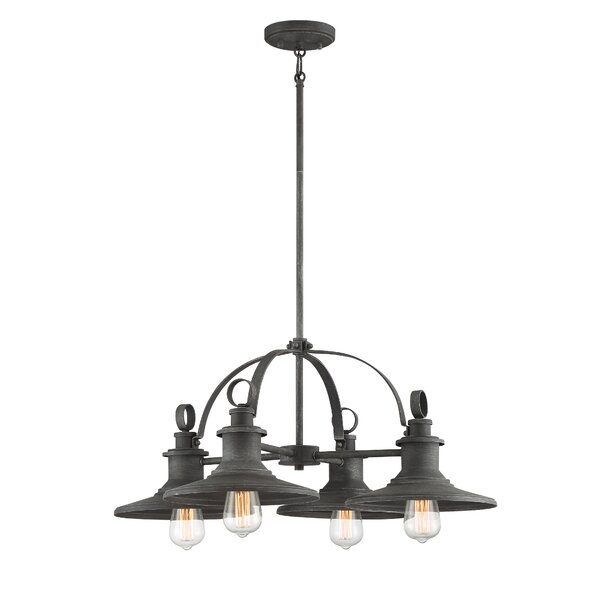 Amansara 4 - Light Lantern Wagon Wheel Chandelier by Williston Forge Williston Forge