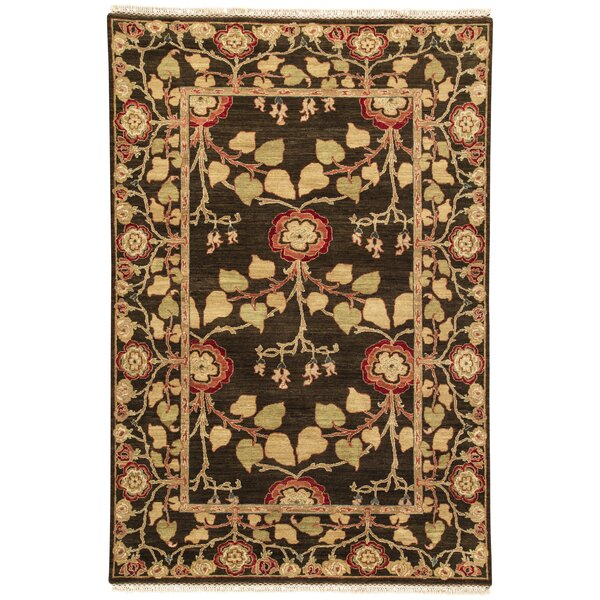 Farnhill Tree of Life Deep Charcoal Contemporary Rug by Astoria Grand