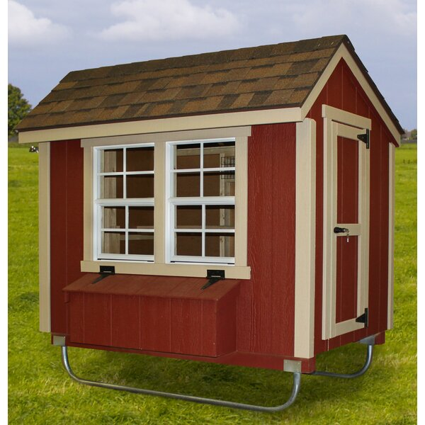 Coolidge 4x6 EZ Fit Chicken Coop by Tucker Murphy Pet