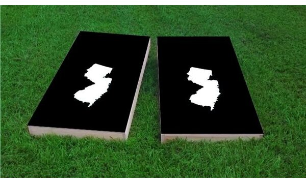 New Jersey Theme Cornhole Game (Set of 2) by Custom Cornhole Boards