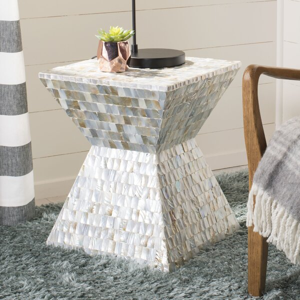 Hinshaw Square Mosaic Accent Stool by Highland Dunes