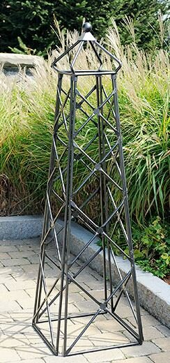 Lattice Steel Obelisk Trellis by ACHLA