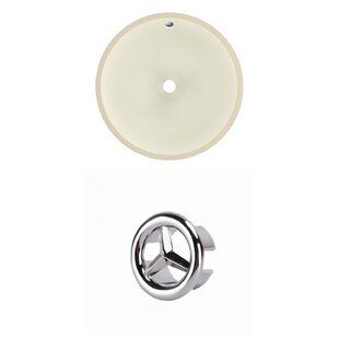 Comparison Ceramic Circular Undermount Bathroom Sink with Overflow By American Imaginations