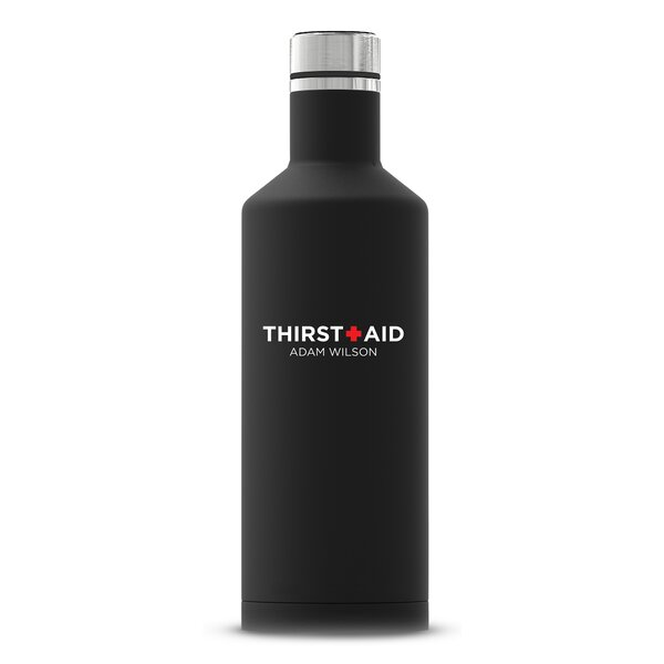 Savoie Thirst Aid Printing Personalized Insulated 17 oz. Stainless Steel Travel Tumbler by Ebern Designs