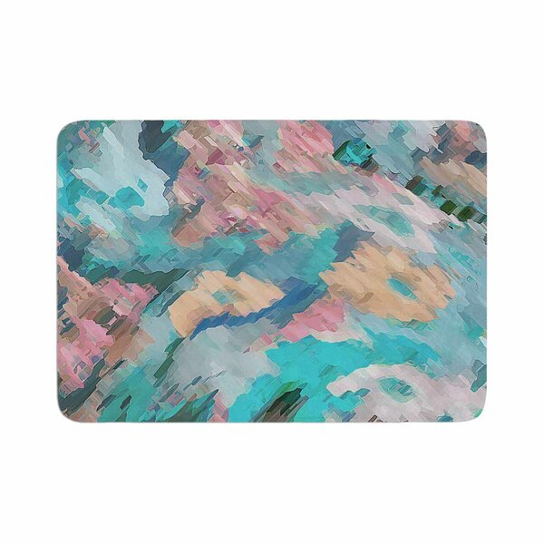 Alison Coxon Giverny Abstract Memory Foam Bath Rug by East Urban Home