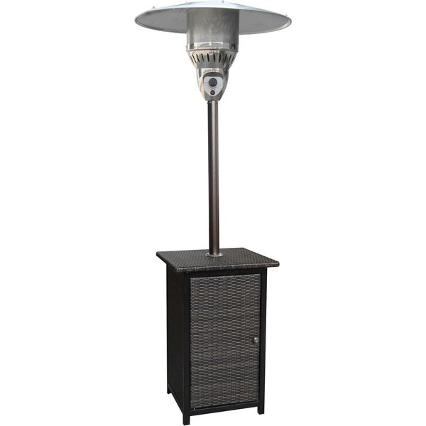 Square Wicker 41,000 BTU Propane Patio Heater by Hanover