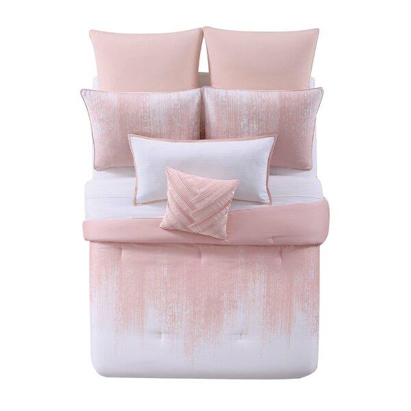 Lyon Blush Cotton 3 Piece Duvet Set by Vince Camuto
