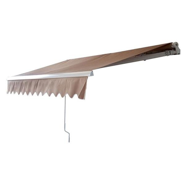 MCombo 12 ft. W x 10 ft. D Retractable Patio Awning by Newacme LLC