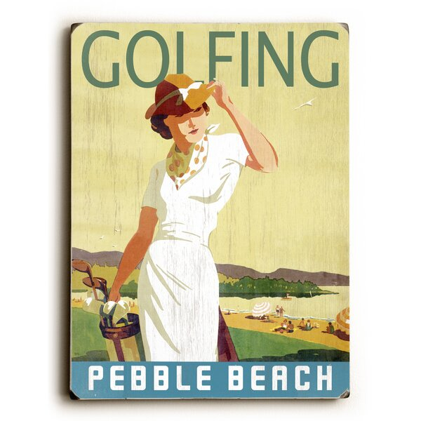 Vintage Female Golfer in White Vintage Advertisement by Artehouse LLC