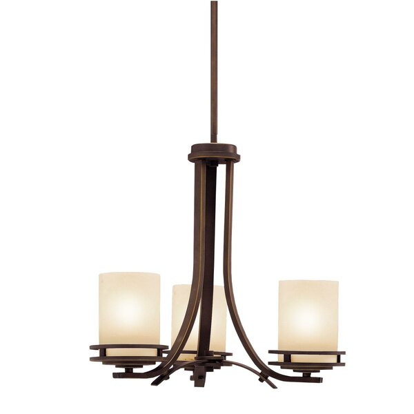 Chesire 3 - Light Shaded Classic / Traditional Chandelier by Winston Porter Winston Porter