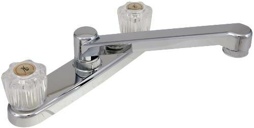 Touch Double Handle Kitchen Faucet with Side Spray by ProPlus