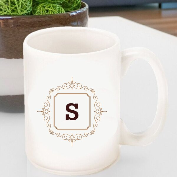Initial Motif Coffee Mug by JDS Personalized Gifts